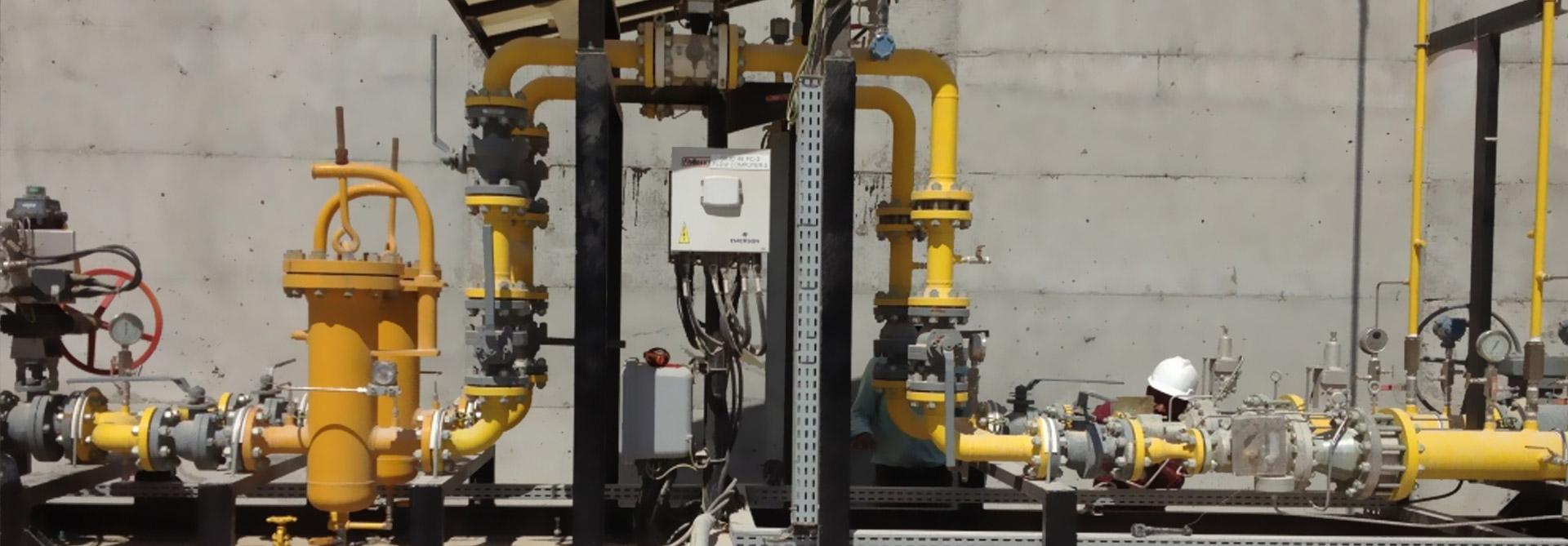 SECONDARY NATURAL GAS METERING & REGULATING SKID